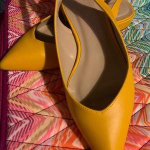 Wild diva sling back shoes size 7